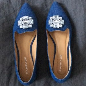 Rampage Shoes - Jeweled denim flats